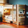 北欧の二段ベッド/2段ベッド/ロフトベッド/システムベッド